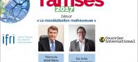 """""""La mondialisation malheureuse"""" - Débat entre Thierry de Montbrial et Eric Chol"""