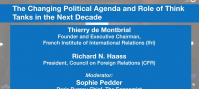 The Changing Political Agenda and Role of Think Tanks in the Next Decade