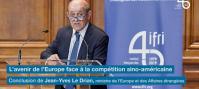 Discours de Jean-Yves Le Drian à la Sorbonne pour les 40 ans de l'Ifri