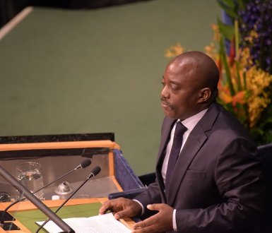 Joseph Kabila s'adressant aux Nations unies