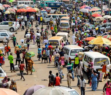 Marché à Kumasi, Ghana