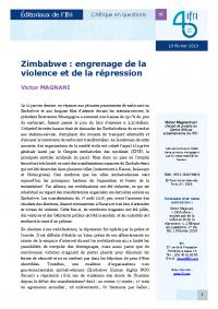 Couverture Actuelle Zimbabwe
