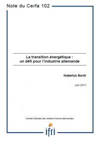 La transition énergétique : un défi pour l'industrie allemande