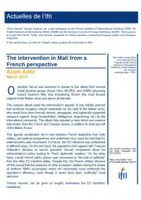 The intervention in Mali