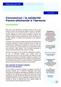 Coronavirus : la solidarité franco-allemande à l'épreuve