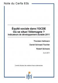 Equité sociale dans l'OCDE : Où se situe l'Allemagne ?  Indicateurs de gouvernance durable 2011