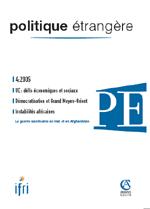 Politique Etrangère : vol. 70, n° 4 (hiver 2005)