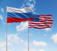 Drapeaux Russie USA