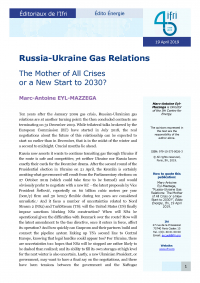 Russia-Ukraine Gas Relations: The Mother of All Crises or a New Start to 2030?