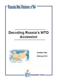 La Russie et l'OMC, mariage d'amour ou de raison ?