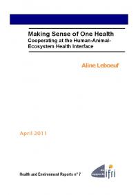 Making Sense of One Health