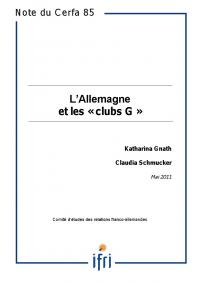 """L'Allemagne et les """"clubs G"""""""