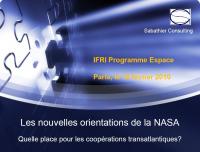 Les nouvelles orientations de la NASA: quelle place pour les coopérations transatlantiques