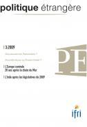 Politique étrangère : vol. 74, n° 3  (automne 2009)