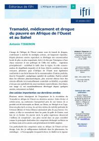 Couverture Tramadol au Sahel