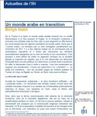 Un monde arabe en transition