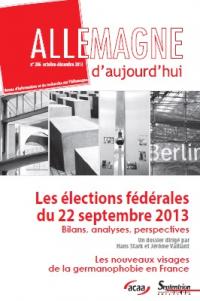 Les élections fédérales du 22 septembre 2013 : Bilans, analyses, perspectives