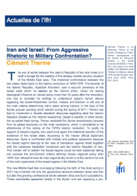 Iran and Israel: From Aggressive Rhetoric to Military Confrontation?