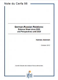 German-Russian Relations: Balance Sheet since 2000 and Perspectives until 2025