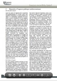 Répondre à l'urgence politique méditerranéenne