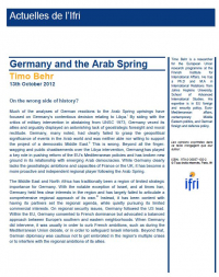 Germany and the Arab Spring