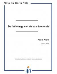 De l'Allemagne et de son économie