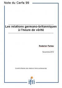 Les relations germano-britanniques  à l'heure de vérité