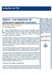 Algérie : une trajectoire de puissance régionale incertaine