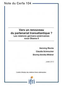 Vers un renouveau du partenariat transatlantique ? Les relations germano-américaines sous Obama II
