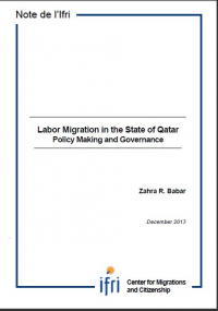 Labor Migration in the State of Qatar - Policy Making and Governance