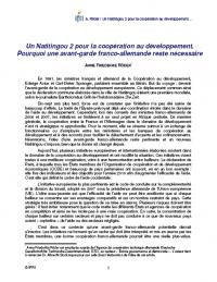 Un Natitingou 2 pour la coopération au développement. Pourquoi une avant-garde franco-allemande reste necessaire