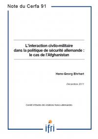 L'interaction civilo-militaire dans la politique de sécurité allemande : le cas de l'Afghanistan