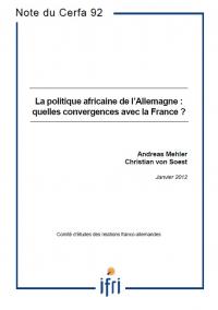 La politique africaine de l'Allemagne : quelles convergences avec la France ?