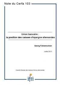 Union bancaire : la position des caisses d'épargne allemandes