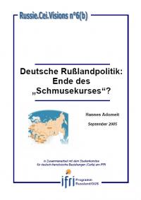 """Deutsche Rußlandpolitik: Ende des """"Schmusekurses"""