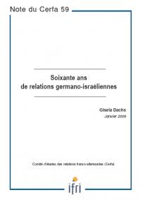 Soixante ans de relations germano-israéliennes