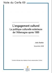 L'engagement culturel : la politique culturelle extérieure de l'Allemagne après 1989
