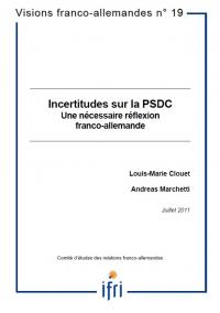 Incertitudes sur la PSDC - Une nécessaire réflexion franco-allemande