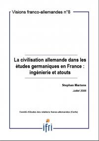 La civilisation allemande dans les études germaniques en France: ingénierie et atouts