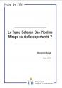 Le Trans Saharan Gas Pipeline : Mirage ou réelle opportunité ?