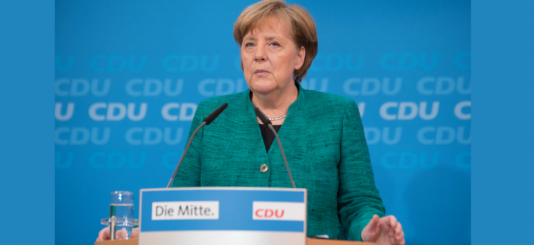 Berlin, Germany, February 25th 2018. Angela Merkel at a press conference in the CDU headquarters in Berlin