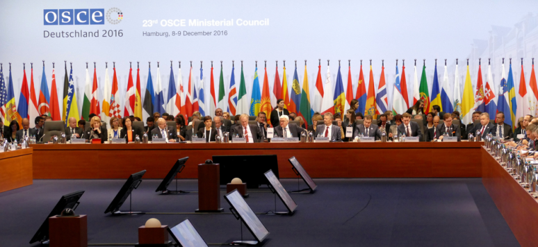 Hamburg, Germany. December 8th 2016: 23rd OSCE Ministerial Council in Hamburg
