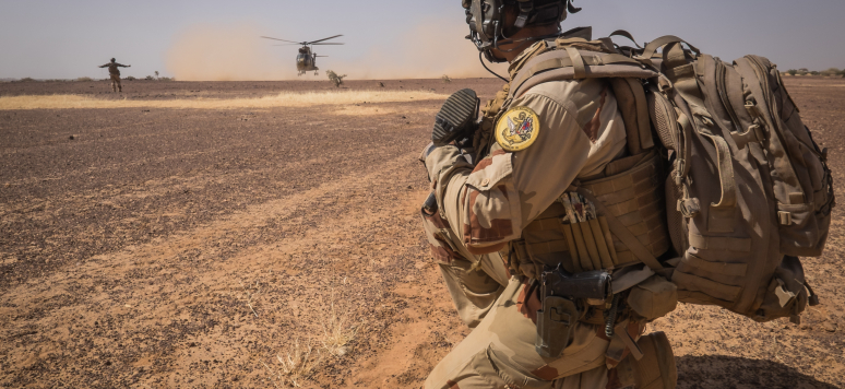 Ansongo, Mali - December 2015 : Daily life of french soldiers of barkhane military operation in Mali (Africa) launch in 2013 against terrorism in the area.