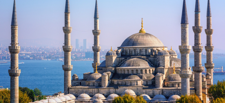Mosquée bleue (Sultanahmet Camii), Bosphore et côté asiatique, Istanbul, Turquie