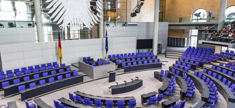 Salle plénière du parlement allemand (Deutscher Bundestag)