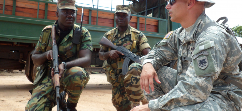 U.S. Army Africa ACOTA team trains Sierra Leone troops