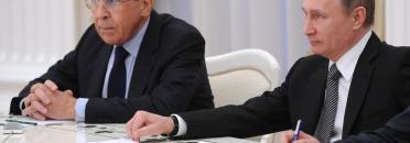 Vladimir Putin with Sergey Lavrov. 23.03.2016