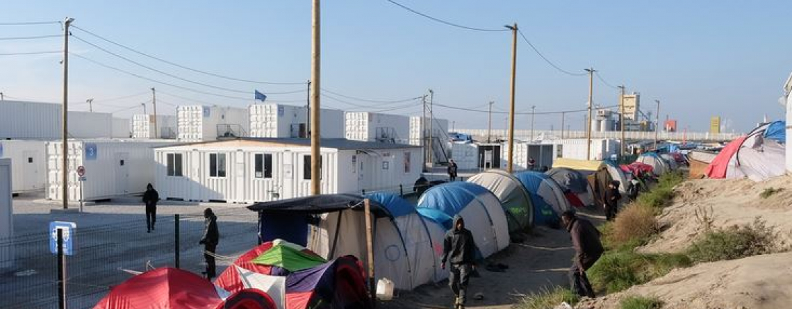 "Calais, France - October 13 2016: refugee camp ""Jungle"""