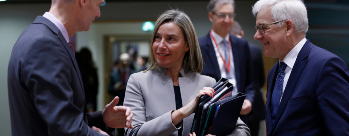 Brussels, 21sth January 2019. European Commissioner Federica Mogherini attends in European Union Foreign Affairs Council meeting