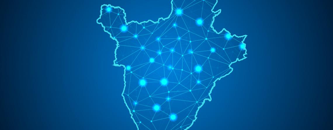 Carte stylisée Burundi